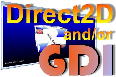 Direct2D oder GDI? Oder sogar beides?