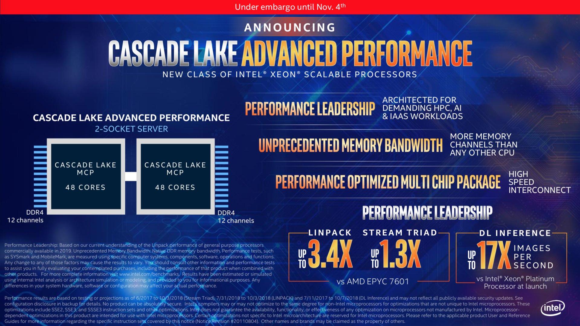 Cascade Lake-AP Intel