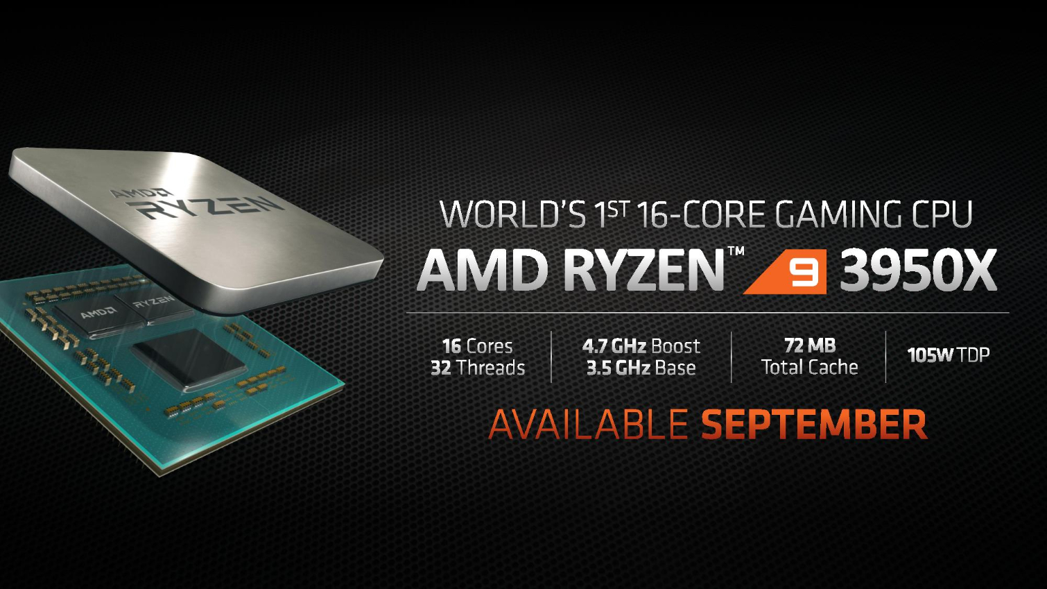 Amd Ryzen 9 3950x Announced With 16 Cores From Dream To Reality Igor Slab