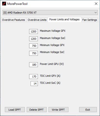 MorePowerTool – AMD Radeon RX 5700 (XT), RX 5500 (XT) and
