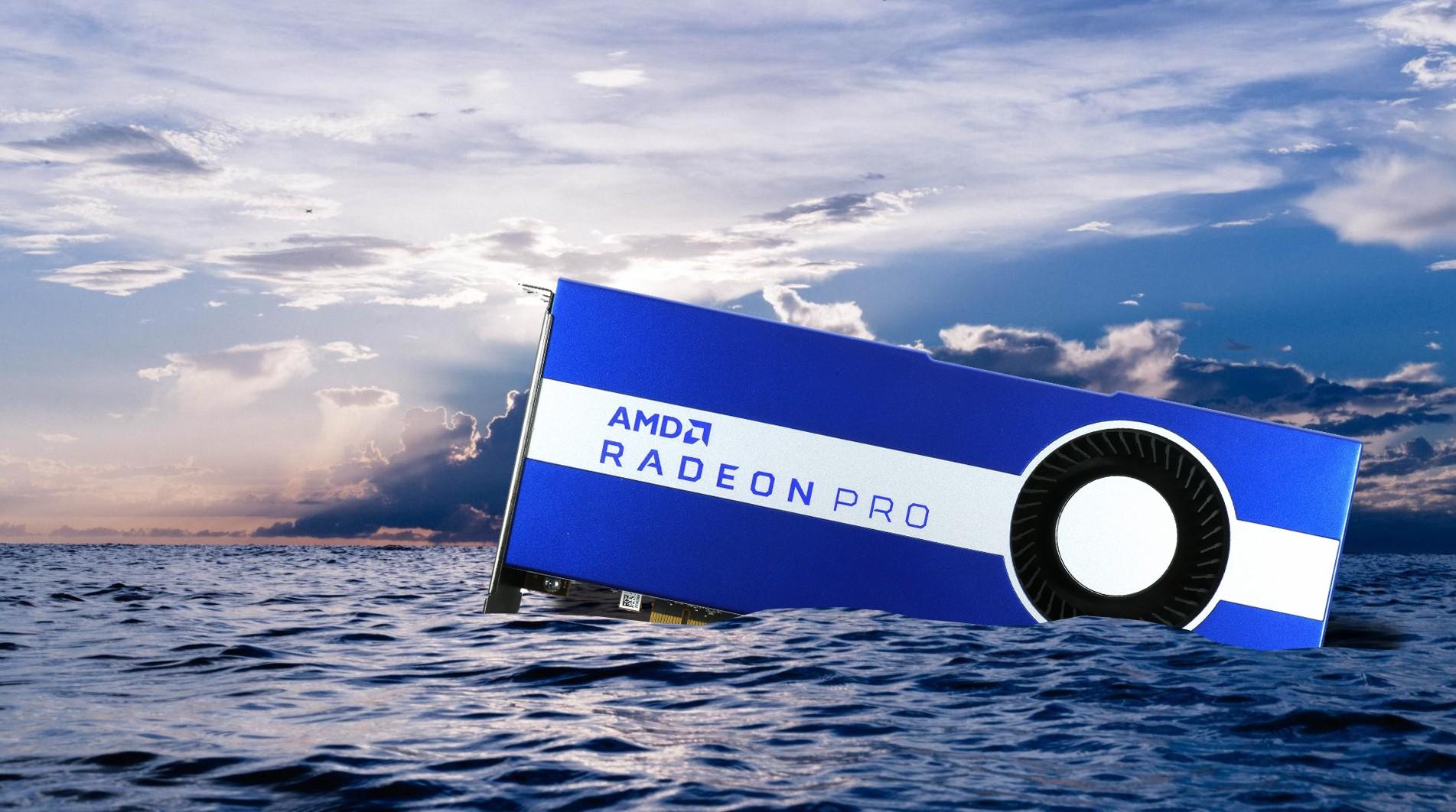 AMD Radeon Pro W5700 wassergekühlt und übertaktet - das Sinnvolle trifft auf das eigentlich Unmögliche, Übermut und Blasphemie