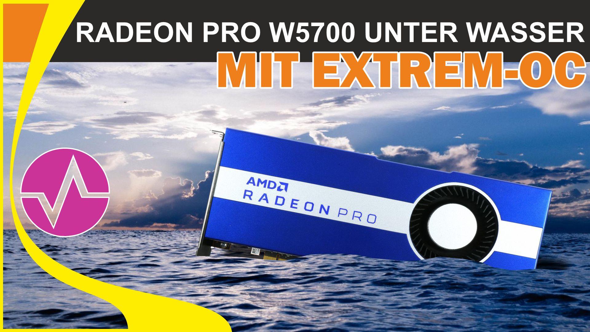 Radeon Pro W5700 mit Alphacoool GPX-A wassergekühlt und voll übertaktet - Mehrwert oder Blasphemie?