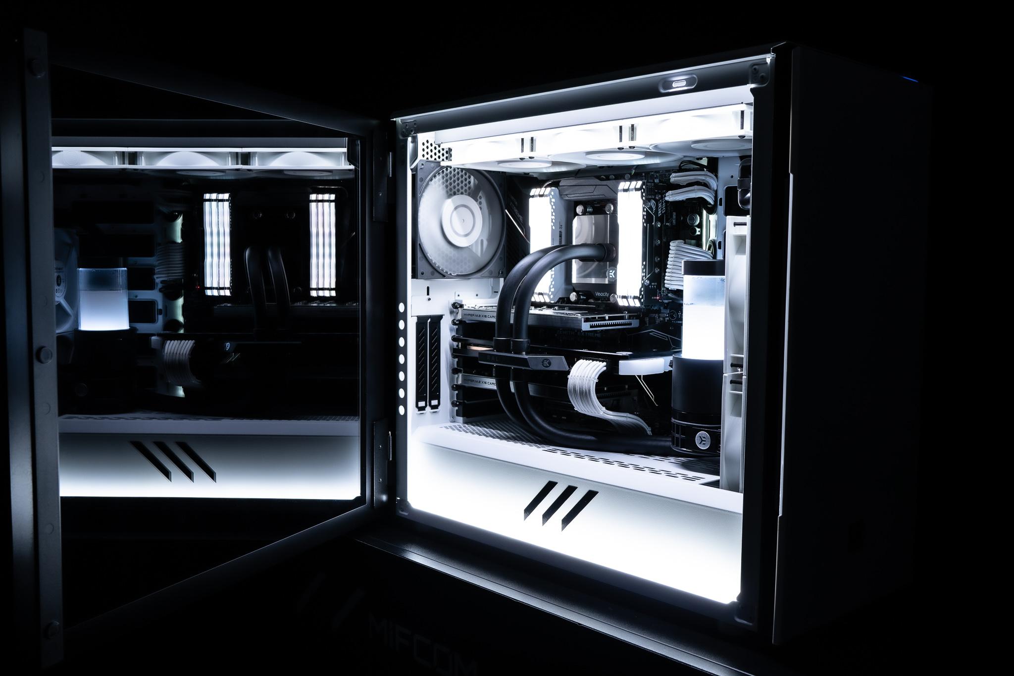 Es muss nicht der Apple Mac Pro sein: Workstations können 2020 stylisch, leistungsstark und erschwinglich sein | 10 TB SSD-RAID | Wasserkühlung | AMD Threadripper 2990WX