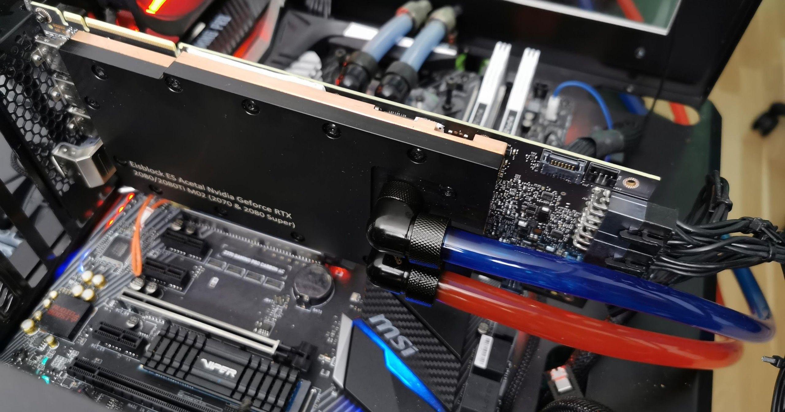 Nvidia Quadro RTX 6000 Water Cooled - mehr Boost und Performance durch Umbau auch ohne manuelle Übertaktung