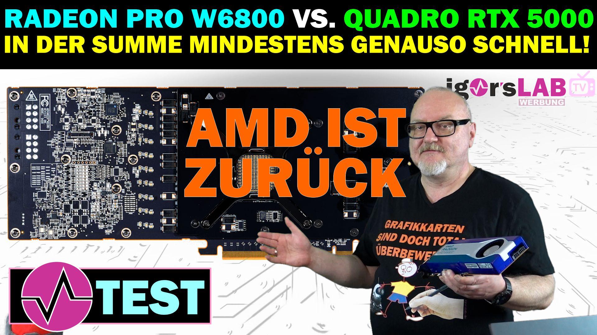 AMD Radeon Pro W6800 Review - AMD ärgert NVIDIA und meldet
