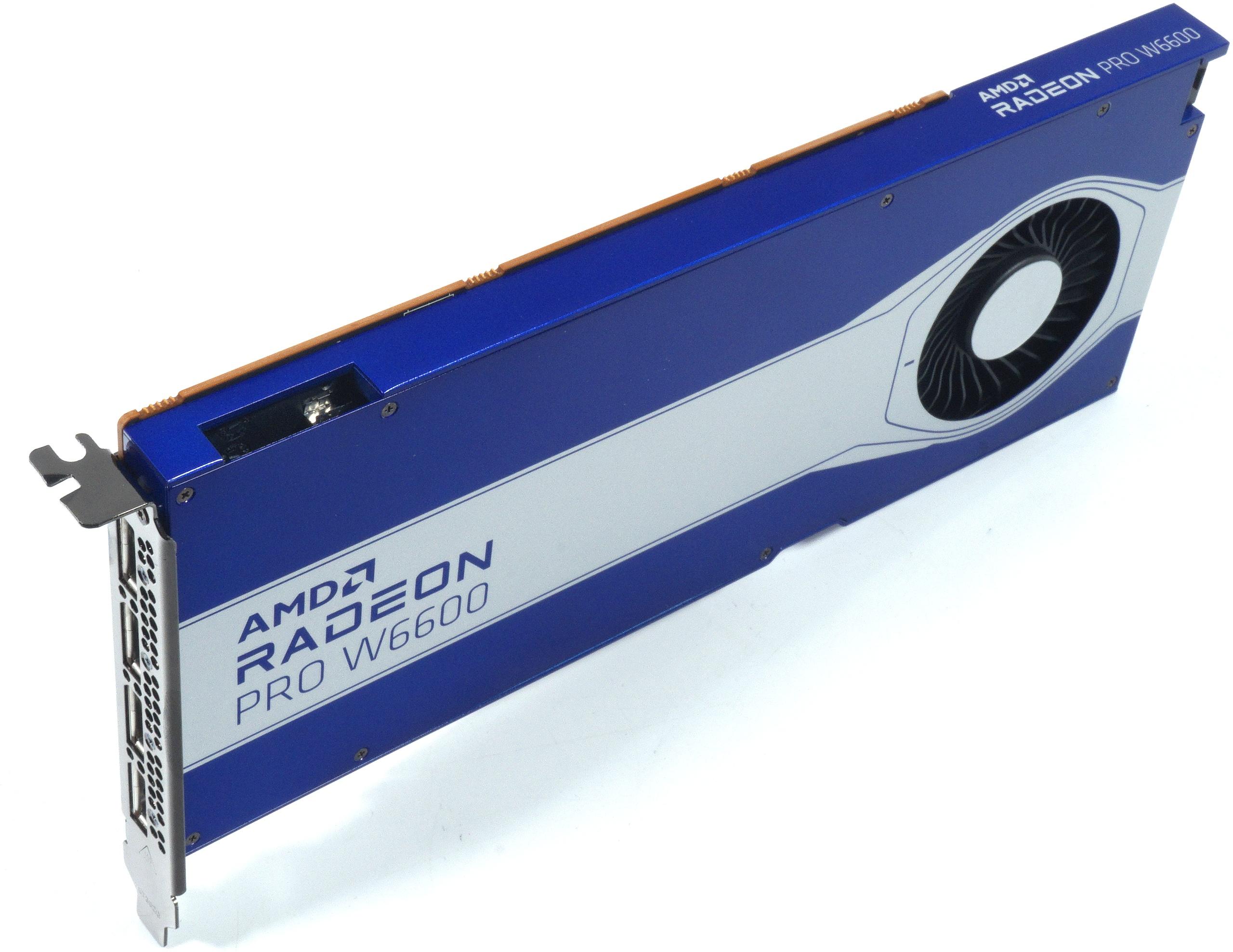 """AMD Radeon Pro W6600 im Testlabor - Erste Daten und Vorstellung der """"kleinen"""" Navi23 ohne XT"""